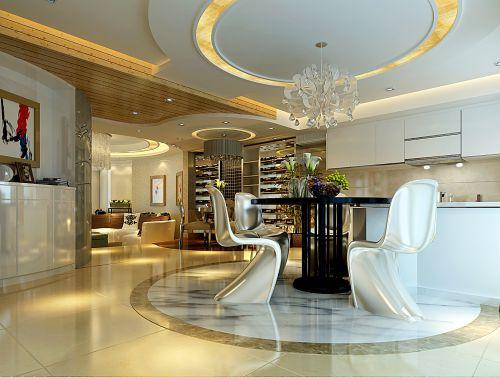 优雅豪华的欧式餐厅设计