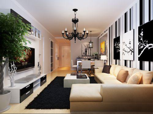 现代简约小户型客厅装潢