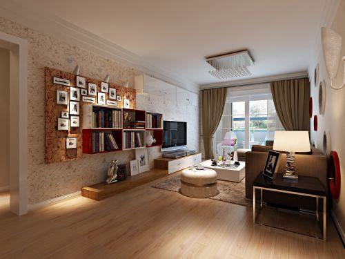 现代简约客厅照片墙设计