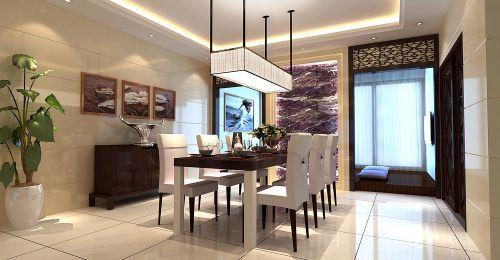紫色简约的餐厅效果图