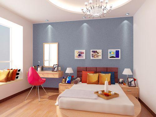 彩色有活力的卧室设计