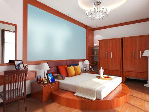红色的卧室榻榻米装修