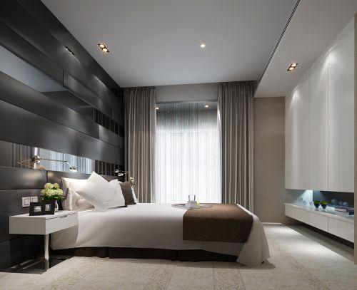 银灰色大气卧室装潢