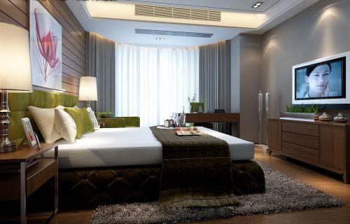 彩色的卧室效果图