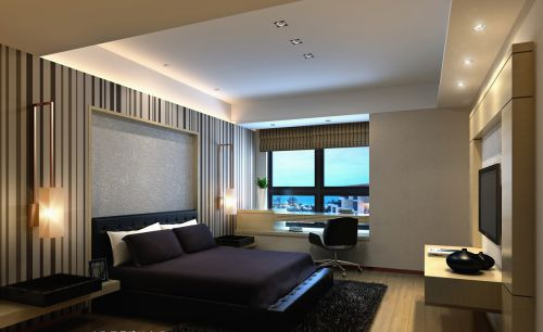 黑色的卧室设计