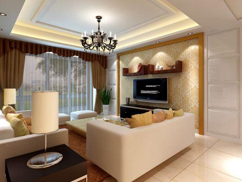 温馨优雅的小客厅效果图