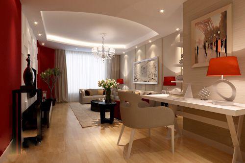 时尚有活力的红色客厅设计