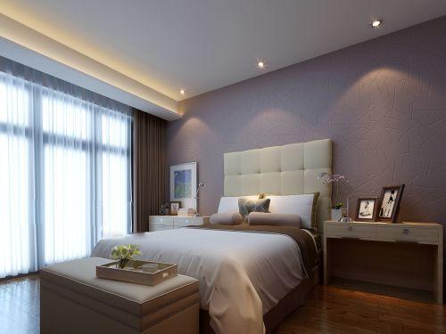 灰色朴素的卧室装潢