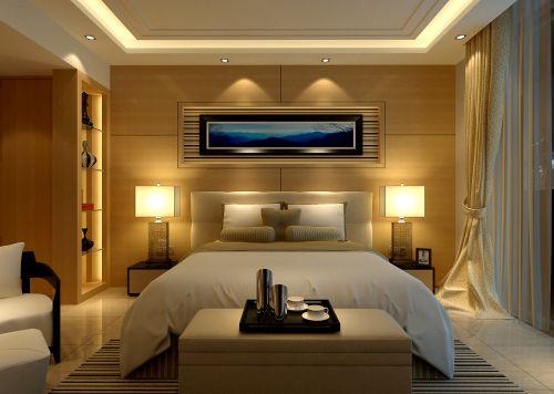 温馨舒适的黄色卧室装修