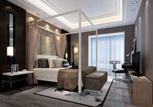 灰色简约保守的卧室装潢