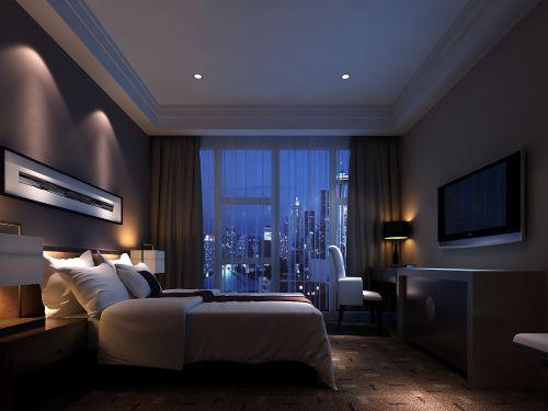 有情调的灰色卧室效果图