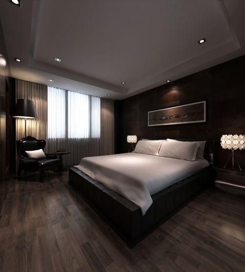 美式咖啡色卧室装修