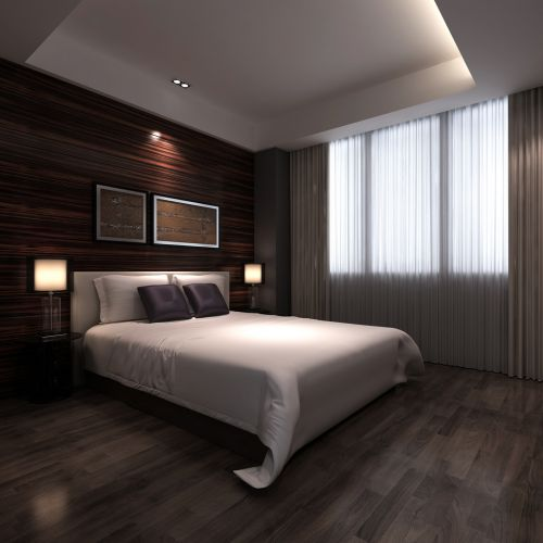 灰色有情调的卧室装潢