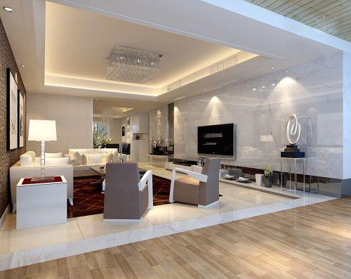 白色简约风格的客厅设计
