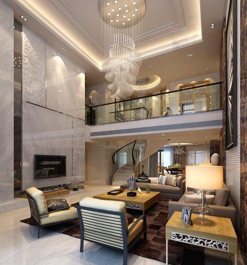 现代风格别墅客厅效果图