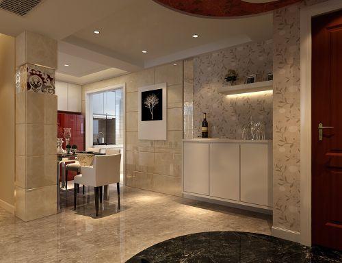 米色的简约餐厅设计