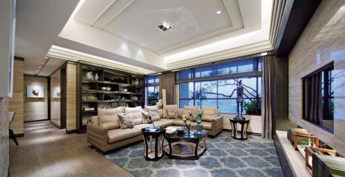 现代简约田园风格客厅装潢
