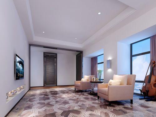 紫色优雅简约的客厅装潢