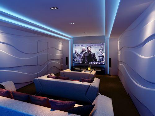 舒适温馨的影视室设计