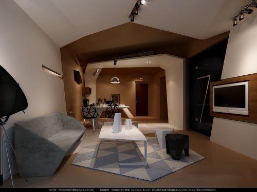 创意潮流的灰色客厅装潢