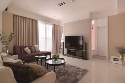 美式简约小客厅装修效果图