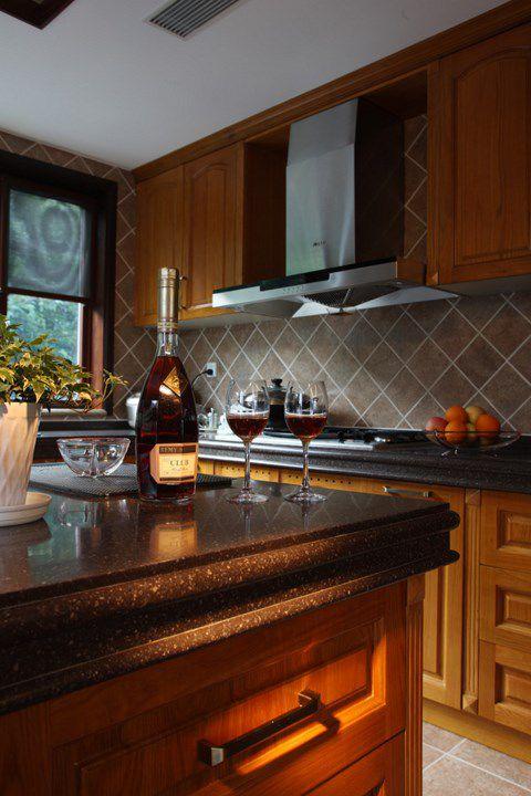 美式厨房吧台装潢