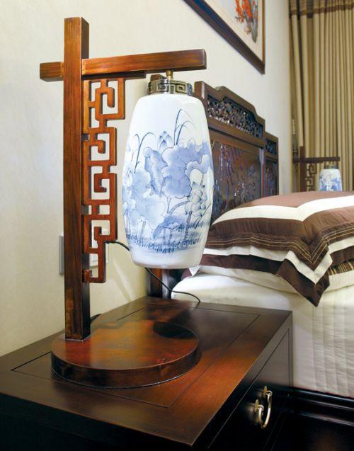 新中式卧室床头灯设计