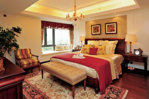 美式婚房卧室装修效果图