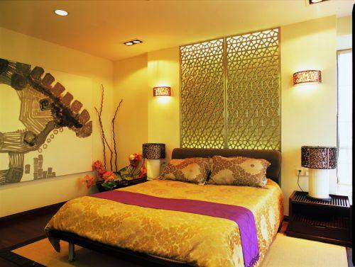 新中式黄色卧室装潢