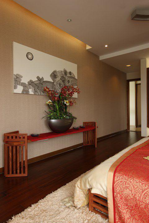 中式木质家具的卧室装修