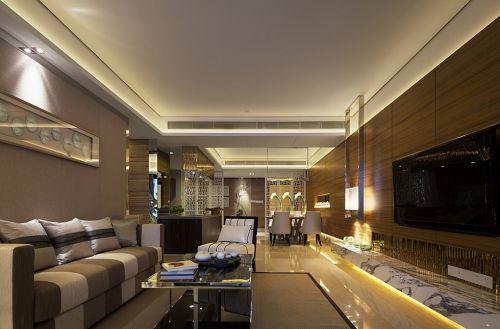 美式灰色的客厅装修