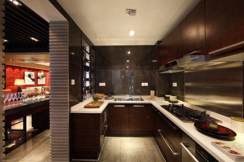咖啡色美式厨房装修