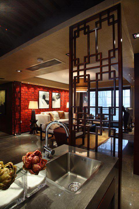 美式厨房与客厅的隔断装修