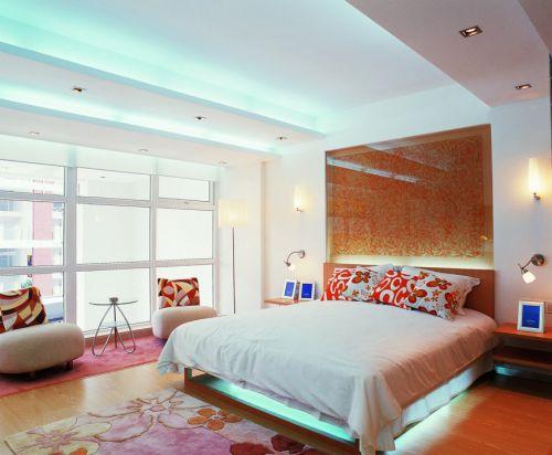 现代简约主卧室装修效果图