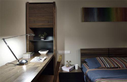灰色的卧室工作区效果图