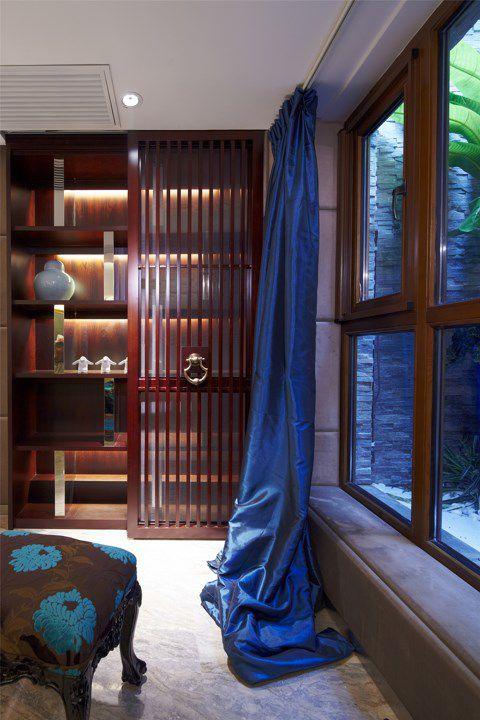 蓝色混搭的卧室一角装修