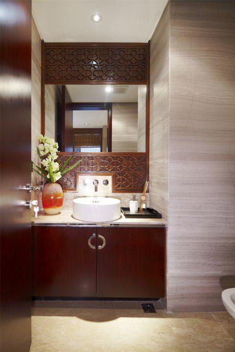 中式木质卫生间装修