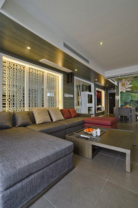 灰色沙发的客厅装修