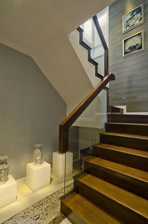 新中式木质楼梯设计