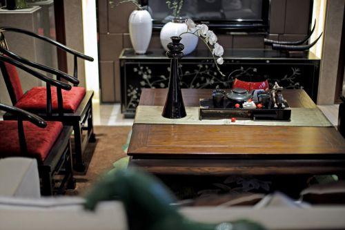 新中式座椅的客厅装潢