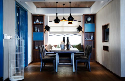 蓝色地中海风情餐厅装修