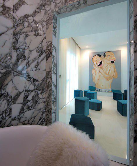 抽象蓝色的大厅装修