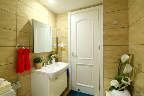 米色温馨简约的卫生间装潢