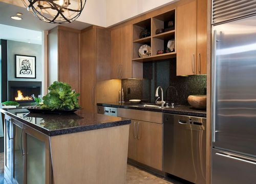 田园木质家具的厨房装潢