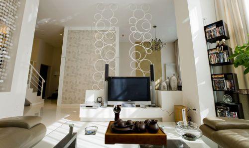 简约风格客厅电视背景设计