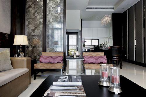 紫色和金黄色搭配的沙发设计
