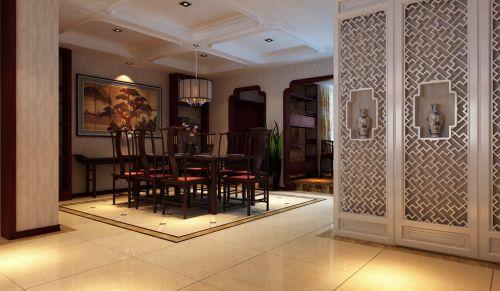 咖啡色古典餐厅装修