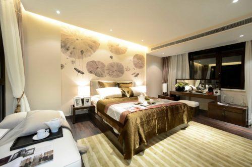 金黄色豪华的简约卧室装修