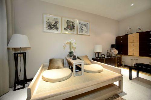 白色中式休闲室设计