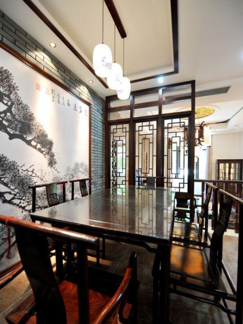 古典餐厅咖啡色装修